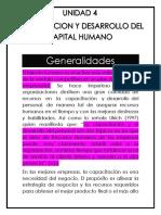 gestion de capital humano (unidad 4)