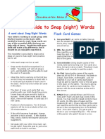 Parents Guide to Snap Words
