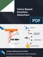 Voice Based Emotion Detection