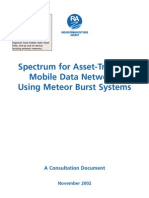 Meteor Burst Comm for Mobile Data- UK and EU Spectrum Reports