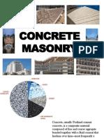 Concrete Masonry Report
