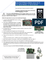 Mag Keypad Oem Kit Installation Sheet