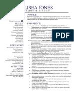 elisea jones resume