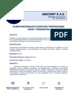 Información Curso Materiales Plásticos