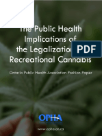 The Public Health Implications of the Legalization of Recreational Cannabis