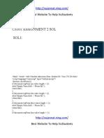 Cs101 Assignment 2 Sol