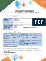Guía de actividades y rúbrica de evaluación - Paso 4 - Plan de acción