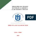 Directiva de Taller Tesis Telesup