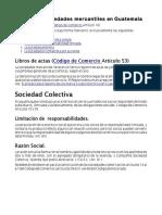 Tipos de Sociedades Mercantiles Guatemala 2019