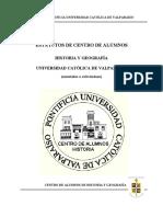 Estatuto de Centro de Alumnos de Historia y Geografía de la Pontificia Universidad Católica de Valparaíso