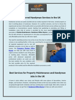Most Preferred Handyman Services in the UK