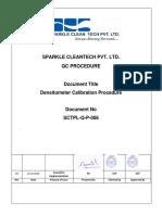 SCTPL Q P 006 Densitometer Calibration Proc