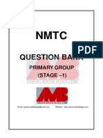 NMTC 2004 to 2015 Question Bank With Answer Keys for Class 5 and 6