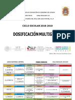 Dosificación Multigrado 2018 - 2019-Converted