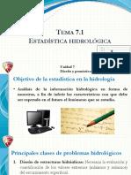 Tema 7.1 Estadística Hidrológica