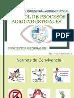 Clase 2 y 3. Introducción y Análisis de Control de Procesos Agroindustriales