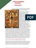 Vietile Sfintilor Ortodoxiei 10 Sinaxarul Lunii Octombrie