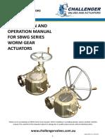 Worm Gear Operator Quarter Turn Gearbox Model SSBWG Manual