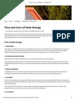 Pros and Cons of Solar Energy - Clean Energy Ideas (1)