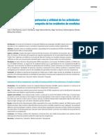 Importancia de Las Competencias y Utilidad de Las Actividades de Aprendizaje en El Desempeño de Los Residentes de Medicina