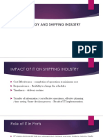 Technology and Shipping Industry