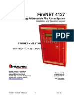 FireNET 4127 - Analog Addressable Fire Alarm System - Installation and Operation Manual (Hochiki)