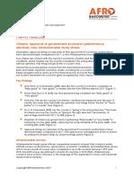 Approval of Gov't Economic Performance Declines - Afrobarometer