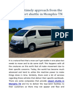 Have the Timely Approach From the Best Airport Shuttle in Memphis TN