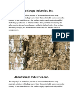 Welcome to Scraps Industries, Inc.