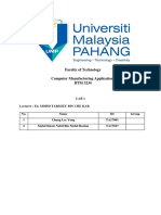 MCA Lab Report 1
