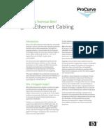 Gig a Bit Ethernet Cabling Technical Brief Jul 08 WW Eng Ltr