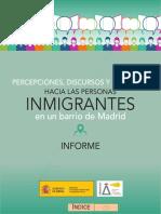 Percepciones hacia las personas inmigrantes
