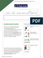 Autotransformador Elevador y Reductor. Ventajas. Aplicaciones - Electrónica Unicrom