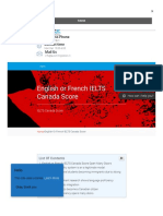 English or French IELTS Canada Score