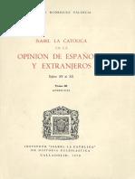 Isabel la Católica en la opinión de los siglos XV al XX