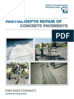 partial depth repair of concrete pavement