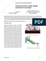 Effect of Wind Environment on High Voltage Transmission Lines Span