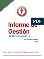 Infome Memoria 2014-2015 CMPV