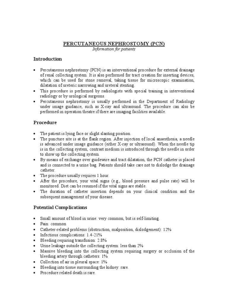 percutaneous nephrostomy essay