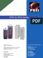 PBSI - Opzv & Opzs Series