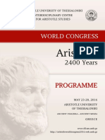 Aristotle 2400 years programme
