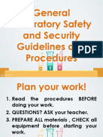 6. General Laboratory Safety and Security Guidelines and Procedures