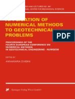 [International Centre for Mechanical Sciences 397] Annamaria Cividini (eds.) - Application of Numerical Methods to Geotechnical Problems_ Proceedings of the Fourth European Conference on Numerical Method.pdf