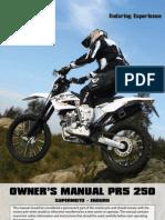 AJP MOTOS - PR5 User Manual