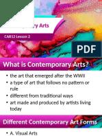 Lesson 2 Contemporary Art