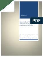 Dynamic tariff