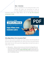 Bajaj Allianz Term Plan