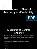 Measure of central tendency and variability