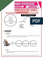Características Del Signo Lingüístico Para Cuarto de Secundaria