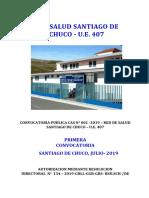 Bases Convocatoria Cas 01 2019 Red Salud Santiago de Chuco 09-08-2019